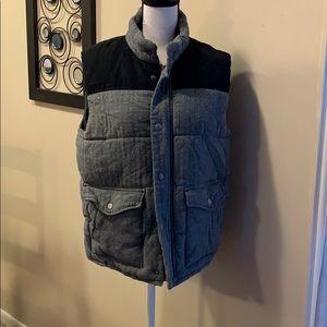 Tweed puffer vest